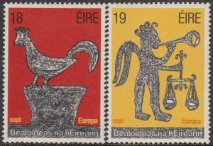 Ireland Scott #496-97 MNH Complete Set Europa/Cept 1981