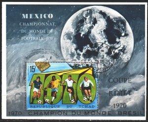 Chad. 1970. bl 9. Mexico 70 Football Championship. USED.