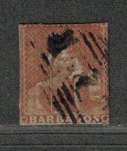 Barbados Sc#4 Used/A, Cv. $325