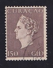Netherlands Antilles  Curacao   #198   used  1948  Wilhelmina   1.50g