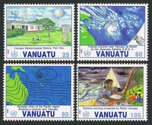 Vanuatu 565-558,MNH.Michel 889-892. Membership in the WMO,10th Ann.1992.