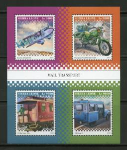 SIERRA  LEONE 2018 MAIL TRANSPORT SHEET MINT NH