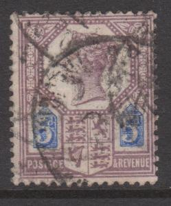 Great Britain 1887 QV 5d Lilac & Blue Jubilee Sc#118 Fine U