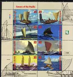 Marshall Islands 1998 Canoes of the Pacific perf sheetlet...