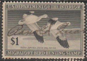 U.S. Scott #RW14 Duck Stamp - Used Single