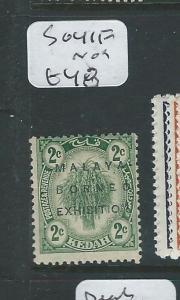 MALAYA KEDAH (P0410B) 1922  MBE 2C   SG 41F    MOG