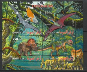 Somaliland Used S/S Dinosaurs 2017