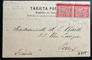 1903 Panama Independence Colombia Picture Postcard Cover To Paris France