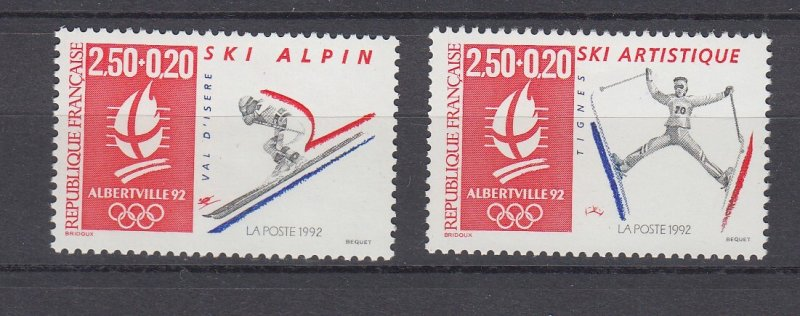 J29302, 1991 france set mnh #b636-7 sports