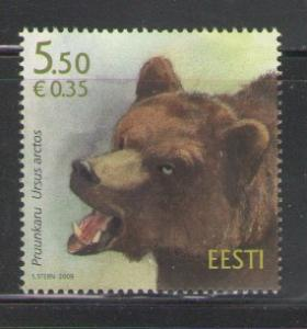 Estonia Sc 622 2009 Bear stamp mint NH