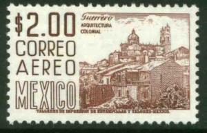 MEXICO C220H, $2PESOS 1950 Def 8th Issue Fosforescent glazed. MINT, NH. F-VF.