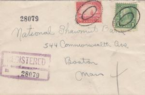 1937, Worcester to Boston, MA, Registered, See Remark (19144)