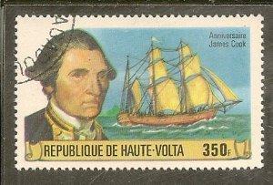 Upper Volta   Scott 477  Captain Cook, Ship   CTO
