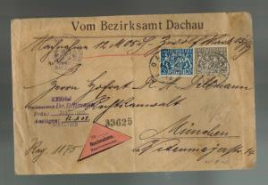 1920 Dachau Germany Cover to Munich Dr Dillmann