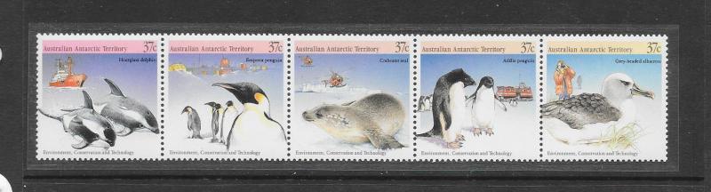 DOLPHINS, PENGUINS, SEALS - AUSTRALIAN ANTARCTIC TERRITORY #L76  MNH