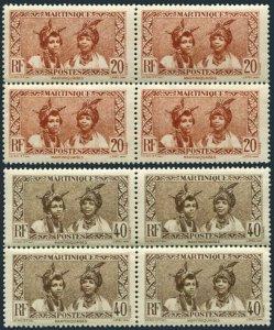 Martinique 140,145 blocks/4,MNH.Michel 132,136. Martinique women,1933.
