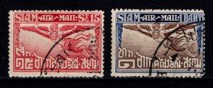 Thailand 1925 Airmail, Garuda Bird, Part Set [Used]