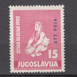 J27609 1952 yugoslavia-trieste set of 1 mh #60 child