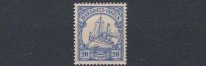 MARSHALL  ISLANDS 1901   S G  G14   20PF  ULTRAMARINE    MNH