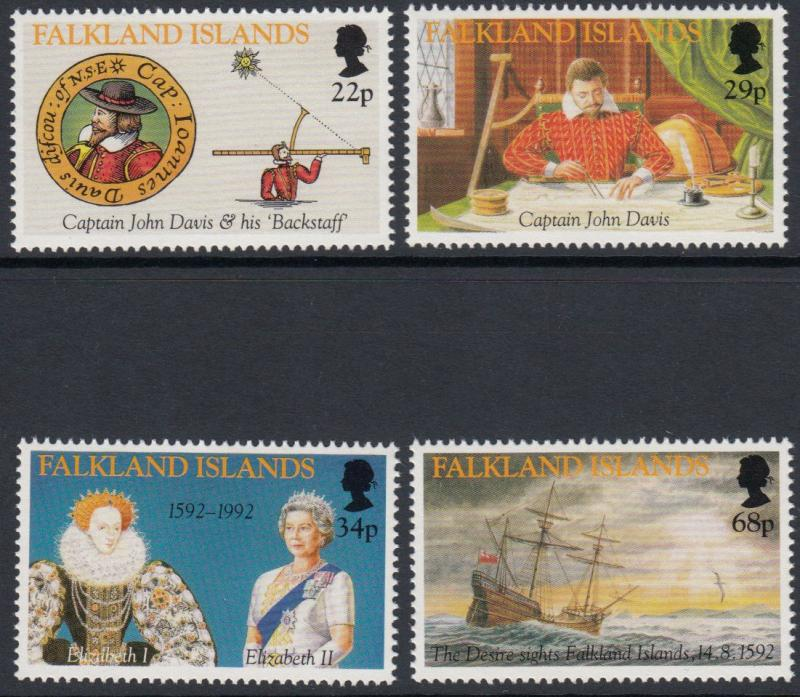 Falkland Islands - 1992 400th Anniv of First Sighting of Falkland Islands (MNH)