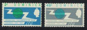 Dominica Centenary of ITU 2v SG#183-184