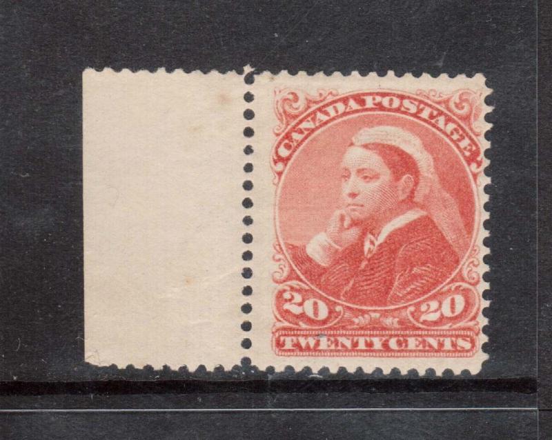 Canada #46 NH Mint Margin Copy **With Certificate**
