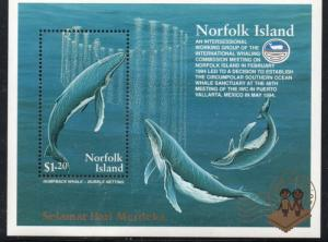 Norfolk Island Sc576a 1995 Whale stamp sheet mint NH Jakarta overpriys