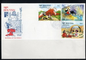 1991 BHUTAN  FDI FDC FIRST DAY COVER DISNEY  STAMPS    LOT 8144