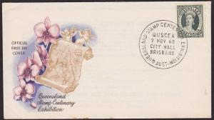 AUSTRALIA 1960 Queensland Stamp Centenary David Fowler FDC - Ex Cancel......1513