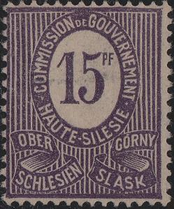 HAUTE SILÉSIE / OBERSCHLESIEN - 1920 - Mi.5c 15pf Mint NO GUM