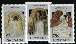 Grenada Dog Breeds SS MNH SC#2630-32 CV $4...Topical bargain!