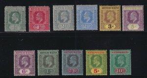 Northern Nigeria Sc #28-38 (1910-11) 1/2d to 10/- King Edward VII Set Mint H