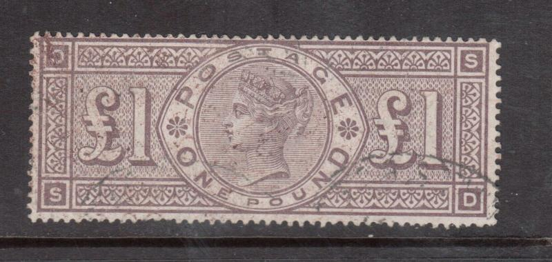 Great Britain #110 (SG #185) Very Fine Used Lettered S-D