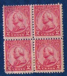 US Sc 689 Von Steuben Issue 1930. MH Zip Block of 4.