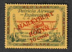 Canada Sc#CL14 M/NH/EF, Patricia Airways, Natural Gum Crease, Cv. $200