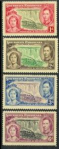 SOUTHERN RHODESIA 1937 KGVI CORONATION Set Sc 38-41 MH