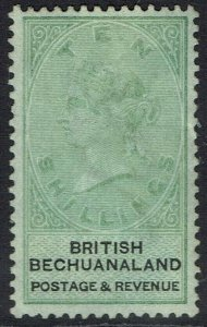 BECHUANALAND 1888 QV 10/- POSSIBLE FISCAL CLEANED
