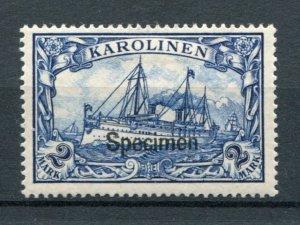Karolinien Mi 17  rare specimen Mint signed  high CV - Lakeshore Philatelics
