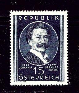 Austria 561 MNH 1949 Johann Strauss the Younger