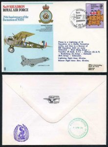 RAF23a No.19 Squadron 25th Ann of the Formation of NATO Standard Cover
