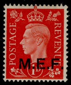 BRITISH OC OF ITALIAN COLONIES GVI SG M6, 1d scarlet M MINT. Cat £55 OPT TYPE M2
