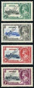 GRENADA SG145s/8s 1935 Silver Jubilee set perf SPECIMEN U/M