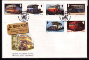 Isle of Man Sc 829-32 1999 Manx Buses stamp set FDC
