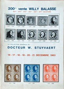 1963 Auction Catalogue Willy Balasse - La Collection du Docteur W Stuyvaert