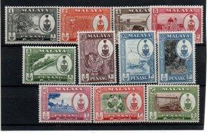 Malaya - Penang 56-66 Set MInt Hinged