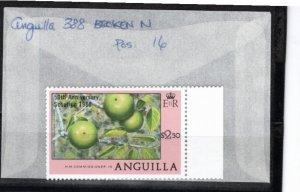 Anguilla 1980 Sc 387-8 MNH Commemorative Perforate Broken 'n' Variety