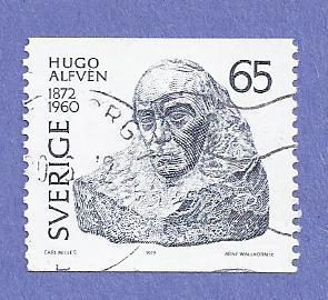 Sweden Scott #921 Hugo Alfven by Carl Milles, CV $.20, Used