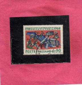 ITALIA REPUBBLICA ITALY REPUBLIC 1968 CINQUANTENARIO DELLA VITTORIA VICTORY L...