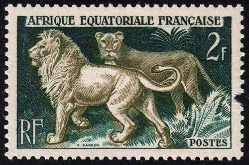 French Equatorial Africa - Scott 196 - Mint-Hinged - Gouge in Margin