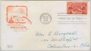 65642 - UNITED STATES USA -  HF Cachet FDC COVER  1948: Scott   # 964  - OREGON